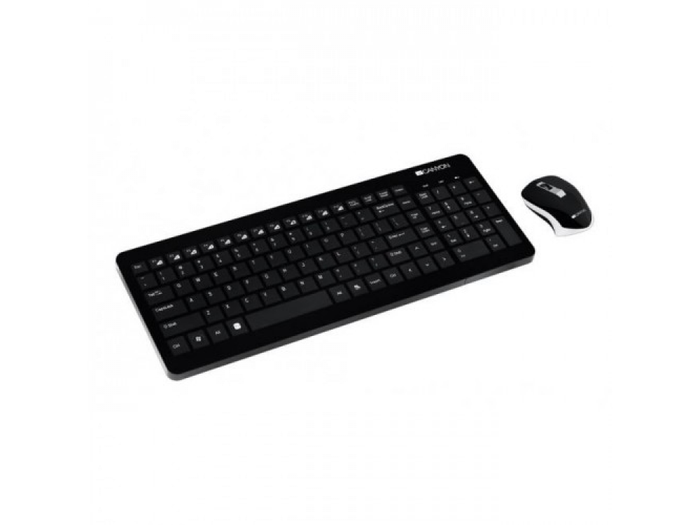Keyboard and mouse set Canyon CNS HSETW3 SK, Wireless Keyboard and Mouse Combo, Media - SK keyboard | NEW | Wireless