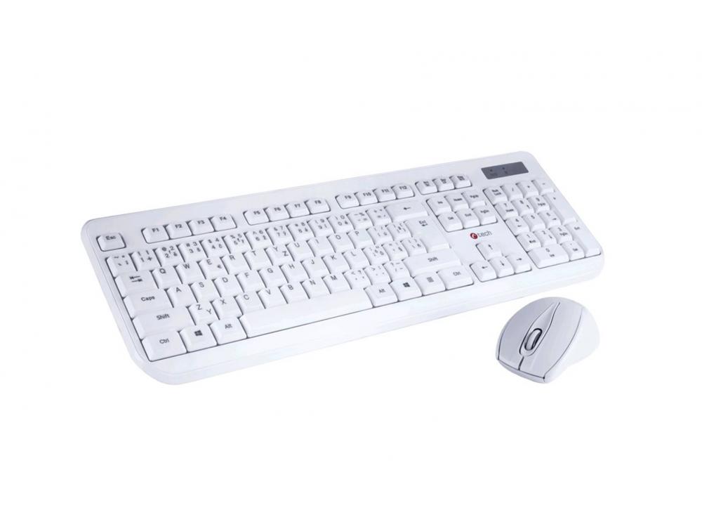 Keyboard and mouse set C-Tech CZ/SK WLKMC-01 Wireless Combo Set White - NEW   Wireless
