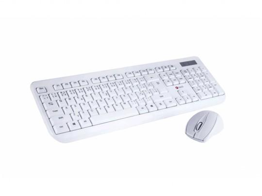 C-Tech CZ/SK WLKMC-01 Wireless Combo Set White Keyboard and mouse set - 2260015 #1