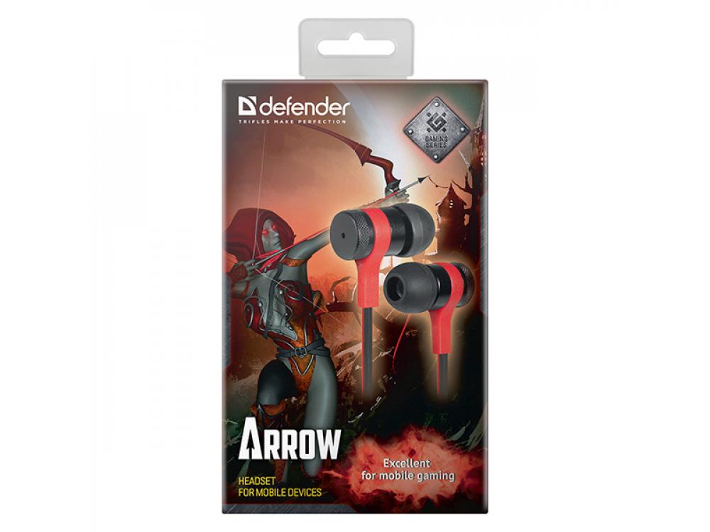 Headset Defender Arrow, 3.5 mm jack, Black-Red - NEW